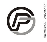 pg logo design template vector... | Shutterstock .eps vector #790995427