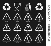 packaging symbols set  resin... | Shutterstock .eps vector #790997509