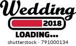 loading bar for future wedding... | Shutterstock .eps vector #791000134