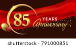 85th anniversary logotype with... | Shutterstock .eps vector #791000851