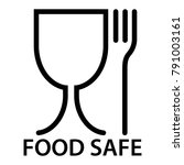 food safe icon  a fork and a... | Shutterstock .eps vector #791003161