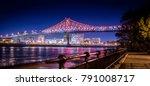 Night Illuminated Bridge