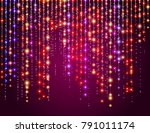 colorful shine flare flash star ... | Shutterstock .eps vector #791011174