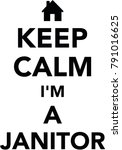 keep calm i am a janitor with... | Shutterstock .eps vector #791016625