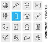 illustration of 16 community... | Shutterstock . vector #791020111