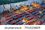 logistics and transportation of ... | Shutterstock . vector #791024809