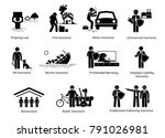 general insurance protection.... | Shutterstock .eps vector #791026981