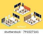 isometric 3d vector... | Shutterstock .eps vector #791027161