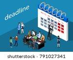 isometric 3d vector... | Shutterstock .eps vector #791027341