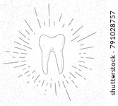 hand drawn symbol of premolar...   Shutterstock .eps vector #791028757