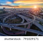 aerial view of a unique city... | Shutterstock . vector #791029171