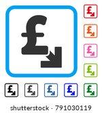 pound decrease icon. flat gray...