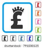 pound crown icon. flat gray...