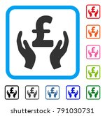 pound care hands icon. flat...