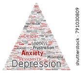 vector conceptual depression or ...   Shutterstock .eps vector #791030809