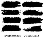 vector collection of artistic... | Shutterstock .eps vector #791030815