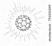 hand drawn symbol of  fullerene ... | Shutterstock .eps vector #791031049