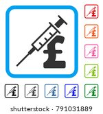 drug pound business icon. flat...   Shutterstock .eps vector #791031889