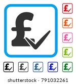 accept pound icon. flat grey... | Shutterstock .eps vector #791032261
