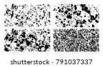 black mud splatter background... | Shutterstock .eps vector #791037337