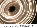 neon circles at long exposure...   Shutterstock . vector #791040619