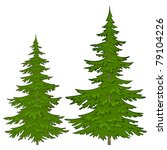 trees  vector  christmas green... | Shutterstock .eps vector #79104226