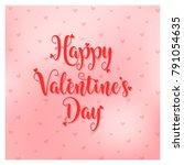 valentines day vector... | Shutterstock .eps vector #791054635