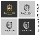 law logo legal logo law office... | Shutterstock .eps vector #791057629