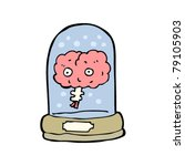 cartoon brain in jar | Shutterstock .eps vector #79105903