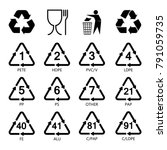 packaging symbols set  resin... | Shutterstock .eps vector #791059735
