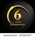 6 years anniversary celebration.... | Shutterstock .eps vector #791063137
