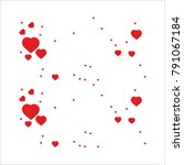 happy valentine day concept... | Shutterstock .eps vector #791067184
