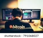 despair man on down stock...   Shutterstock . vector #791068027