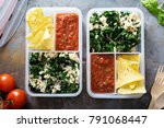 healthy meal prep or lunch for... | Shutterstock . vector #791068447