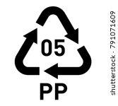 plastic recycling vector... | Shutterstock .eps vector #791071609