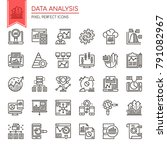 data analysis   thin line and... | Shutterstock .eps vector #791082967