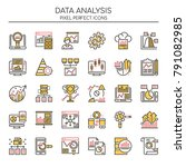 data analysis   thin line and... | Shutterstock .eps vector #791082985
