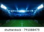 football arena field with...   Shutterstock .eps vector #791088475
