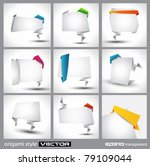 origami style paper panel for...   Shutterstock .eps vector #79109044