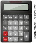 Black Calculator With Solar...