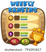 weekly ranking template on... | Shutterstock .eps vector #791091817