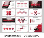 red bundle infographic elements ... | Shutterstock .eps vector #791098897