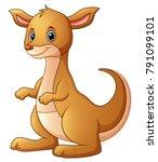 cute kangaroo cartoon | Shutterstock .eps vector #791099101