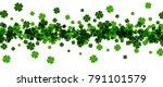 saint patrick's day banner with ... | Shutterstock .eps vector #791101579