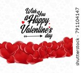 wish you a happy valentine's... | Shutterstock .eps vector #791104147