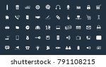 vector web icon set | Shutterstock .eps vector #791108215