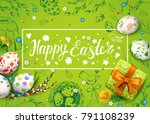 vector card with realistic 3d... | Shutterstock .eps vector #791108239