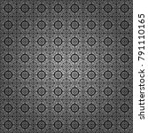 vector seamless rhombus and... | Shutterstock .eps vector #791110165