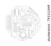 flat design elements of... | Shutterstock .eps vector #791111449