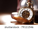 Vintage Pocket Watch And Hour...